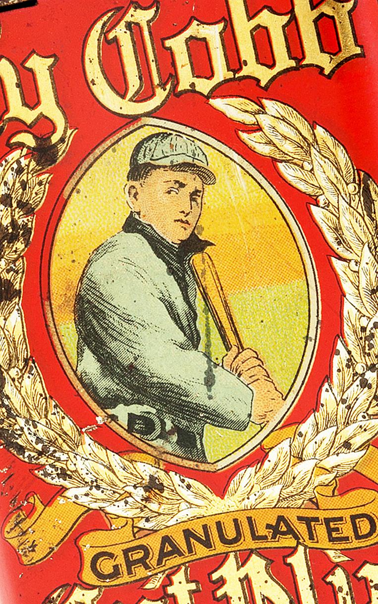 Extremely Rare 1911-12 Ty Cobb Tobacco Tin