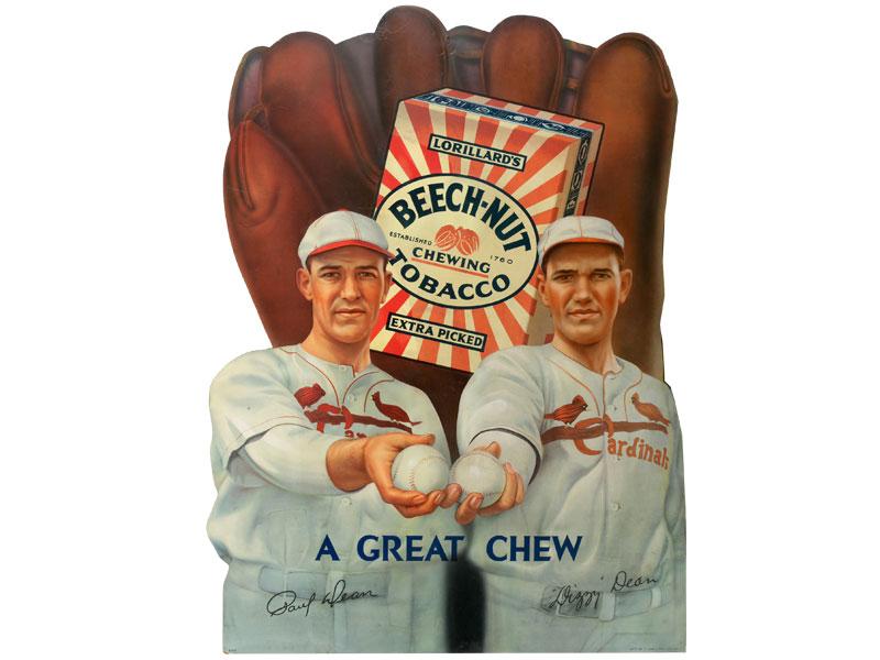 Circa 1934 Dizzy And Daffy Dean Beech-Nut Tobacco Advertising Display