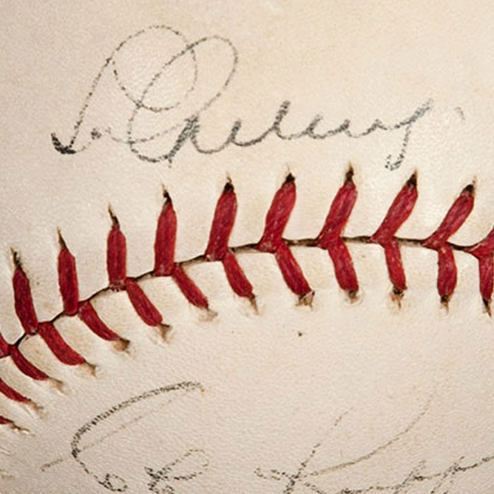 Historic 1938 Monte Pearson No-Hitter Game Ball Signed by 1938 New York Yankees Including Gehrig and DiMaggio – First No-Hitter Pitched in Yankee Stadium