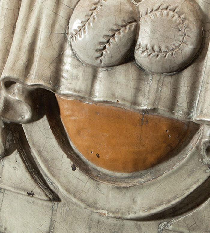 1923 Original Yankee Stadium Ornamental Terra-Cotta Figural Piece From Main Entrance Façade