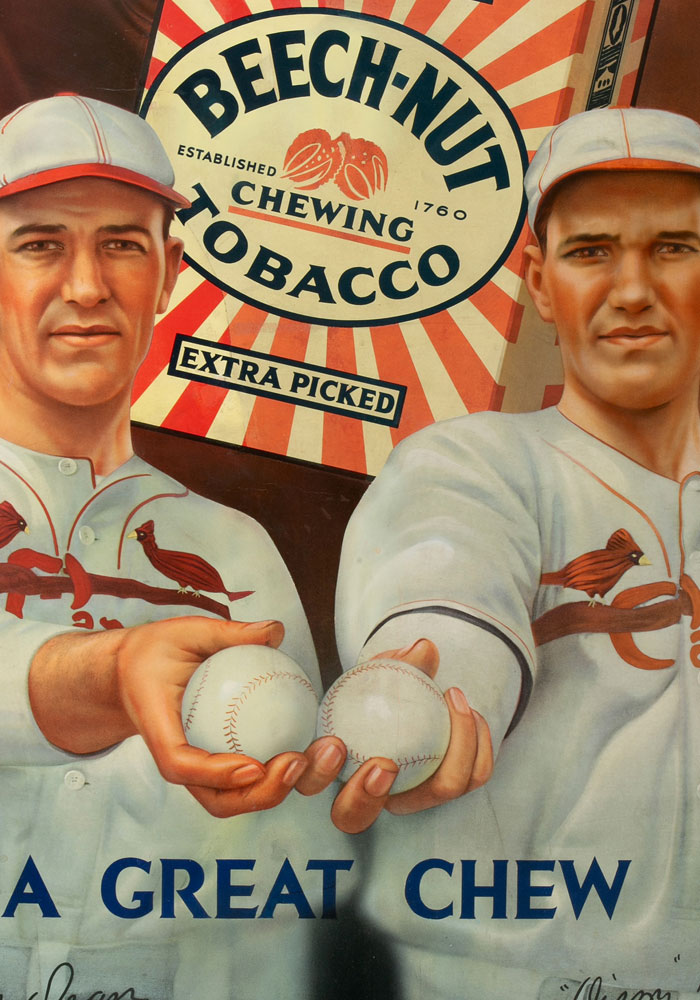 Circa 1934 Dizzy And Daffy Dean Beech-Nut Tobacco Advertising Display