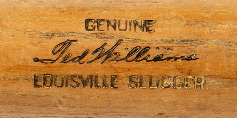 1954 Ted Williams Hillerich & Bradsby Professional Model Game Used Bat With Exceptional Teammate Provenance (PSA/DNA GU 8)