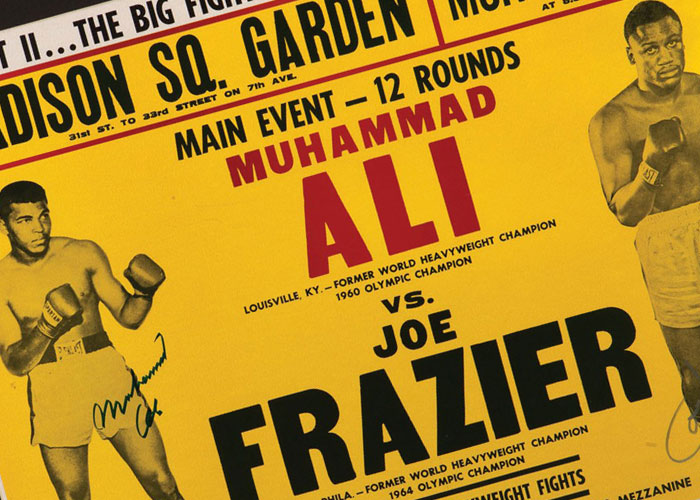 "Muhammad Ali And Joe Frazier Dual-Signed January 28, 1974 ""Ali-Frazier II"" Heavyweight Fight On-Site Poster"